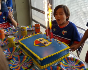 Celebrando el cumpleaños